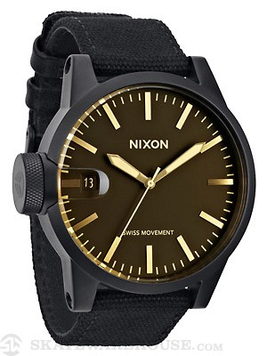 Nixon The Chronicle Watch  Matte Black/Orange Tint