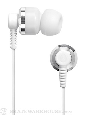 Nixon The Encore Earbuds Silver/White