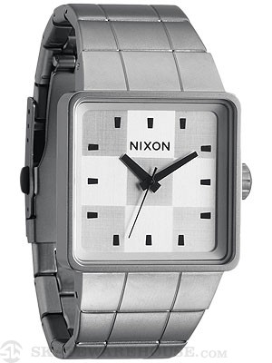 Nixon The Quatro Watch  Sanded Steel/White