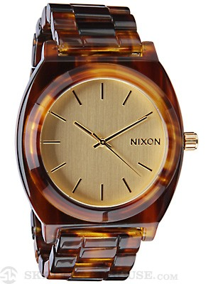 Nixon The Time Teller Acetate Watch  Gold/Molasses