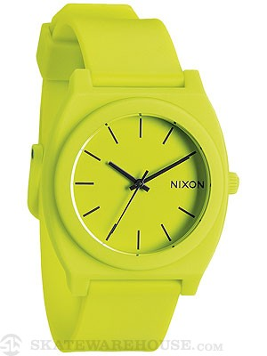 Nixon The Time Teller P Watch  Neon Yellow