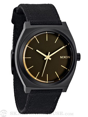 Nixon The Time Teller Watch  Matte Black/Orange Tint