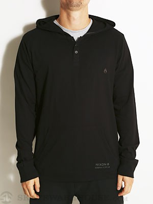 Nixon Union Hooded Henley Black SM