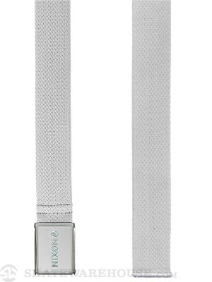 Nixon Woven Wordmark Belt White Adj.