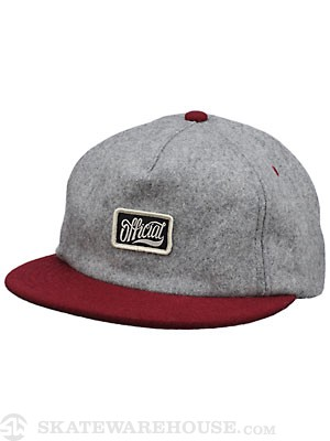 Official Rojo Unstructured Hat Grey Wool
