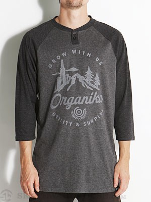 Organika City Nature Henley Charcoal LG