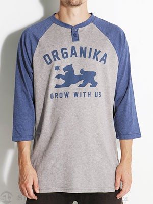 Organika Grow Lion Henley Athletic Heather SM