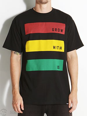 Organika Roots Stripe Tee Black SM