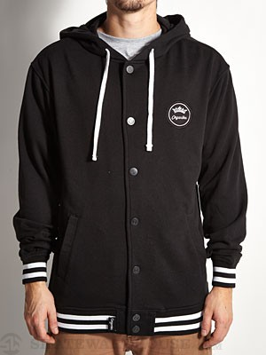 Organika Ridge Varsity Fleece Jacket Black SM