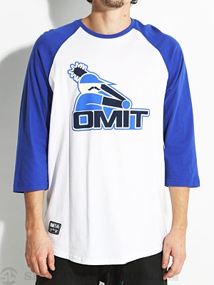 Omit Black Socks Raglan Shirt Blue MD