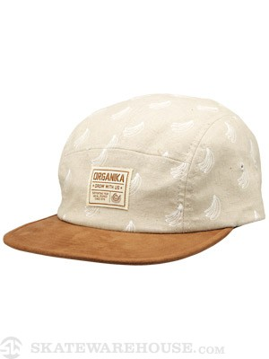 Organika Banana 5 Panel Hat Oatmeal/Brown Adj.