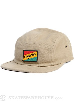Organika Flag 5 Panel Hat Khaki Adjust