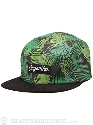 Organika Palms 5 Panel Hat Black Adj.