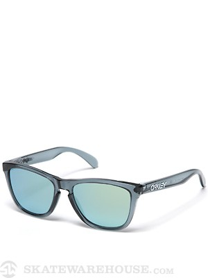 Oakley Frogskins Sunglasses Crystal Blk/Emerald Iridium