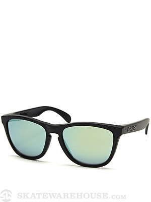 Oakley Frogskins Sunglasses Matte Black/Emerald Polar.