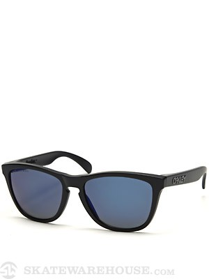 Oakley Frogskins Sunglasses Matte Black/Ice Polarized