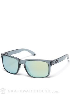 Oakley Holbrook Sunglasses  Crystal Blk/Emerald Iridium