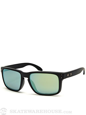 Oakley Holbrook Sunglasses Matte Black/Emerald Polar.