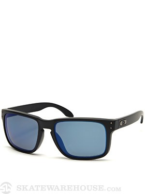 Oakley Holbrook Sunglasses Matte Black/Ice Polarized