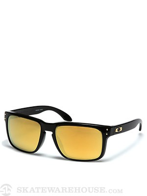 Oakley Holbrook Polished Black w/ Gold Sunglasses