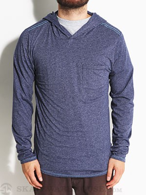 Oakley Hooded Tri Tee Pullover Blue Depths LG