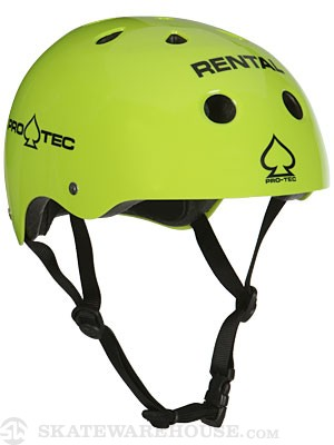The Classic Skate Helmet Gloss Rental Yellow XL