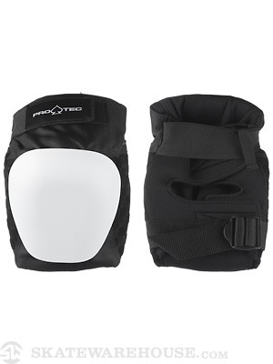 Protec Drop In Knee Pads  Black/White