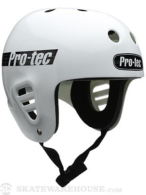Protec The Full Cut Skate Helmet Gloss White SM