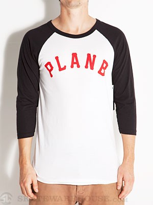 Plan B Clubhouse L/S Raglan Shirt Black MD