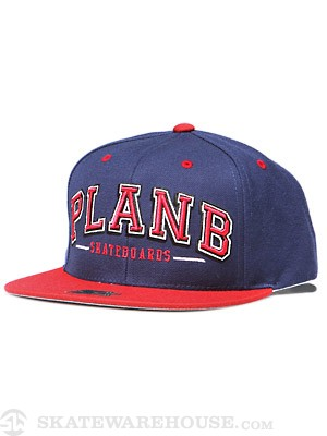 Plan B Coliseum Snapback Hat Navy Adjust