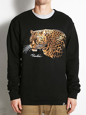 Primitive Big Cat Crewneck Sweatshirt Black MD
