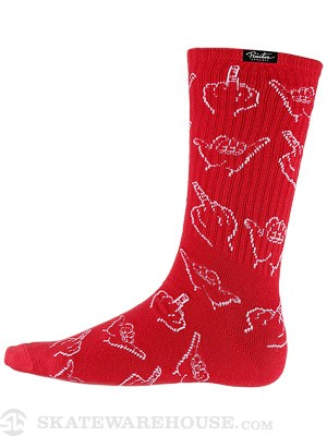 Primitive HLFU Crew Socks Red