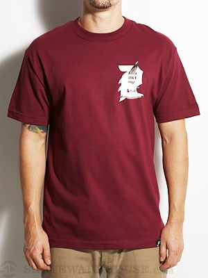 Primitive Gully Tee Burgundy SM