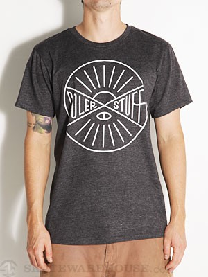 Poler Hemisphere Tee Black Heather LG