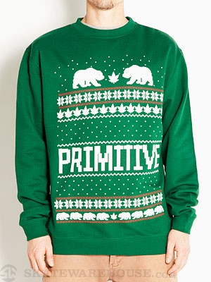 Primitive Jolly Bear Sweatshirt Hunter Green MD