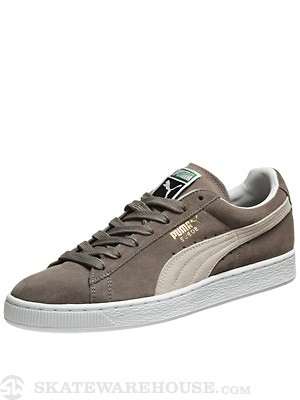 Puma Suede Classic Shoes  Grey/White