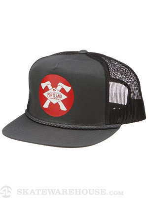 Portland Wheel Co. Axe Mesh Hat Dark Grey Adjus