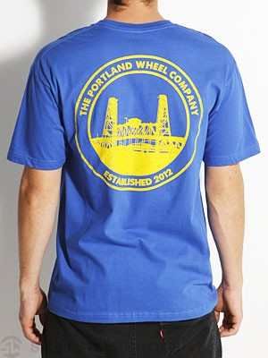 Portland Wheel Co Badge Tee Royal XL
