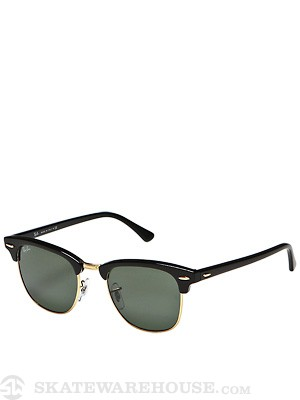 Ray Ban Clubmaster  Ebony/Arista/Crystal Green Lens