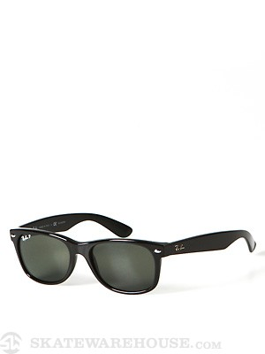 Ray Ban New Wayfarer  Black/Polarized Green Lens/55mm