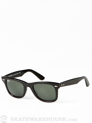 Ray Ban Original Wayfarer  Black/Crystal Green Lens/50