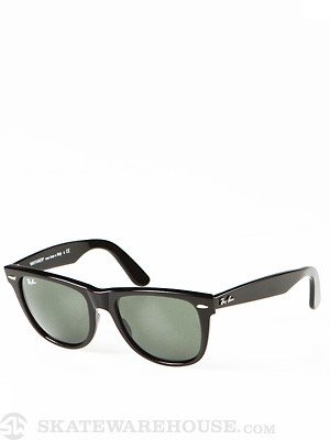 Ray Ban Original Wayfarer  Black/Crystal Green Lens/54