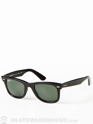 Ray Ban Original Wayfarer  Black/Polar Green Lens/50mm