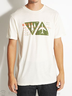 RVCA Air And Land Vintage Dye Tee Almond Tea MD