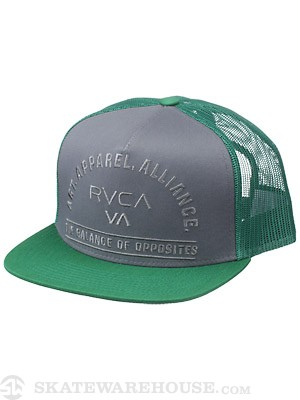 RVCA Arched Trucker Hat Pavement Adjust