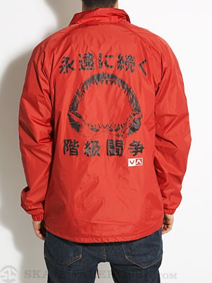 RVCA ANP Coaches Jacket Ketchup Red/KET SM