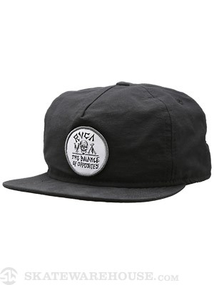 RVCA Bones Balance Unstructured Hat Black Adj.