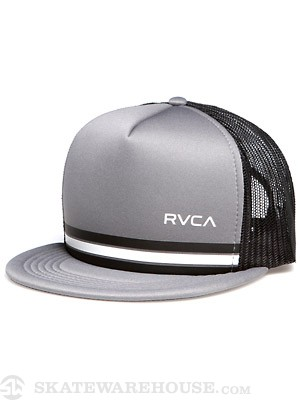 RVCA Barlow Trucker Hat Black/Pavement/BPV Adj
