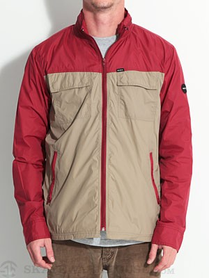 RVCA Bay Blocker Windbreaker Jacket Red XL