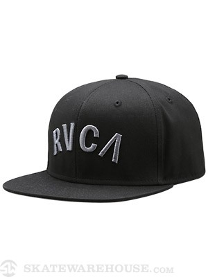 RVCA Blocks Snapback Hat Black Adj.
